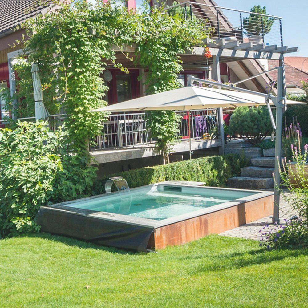 Mini Pools Badespa Im Kleinformat Gartendeko Gartengestaltung Gartenanlegen In 2020 Mini Pool Pool Backyard