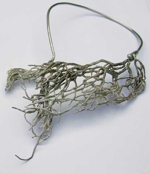 Seaweed neckpiece (sterling silver) by Nic Bladen, South Africa