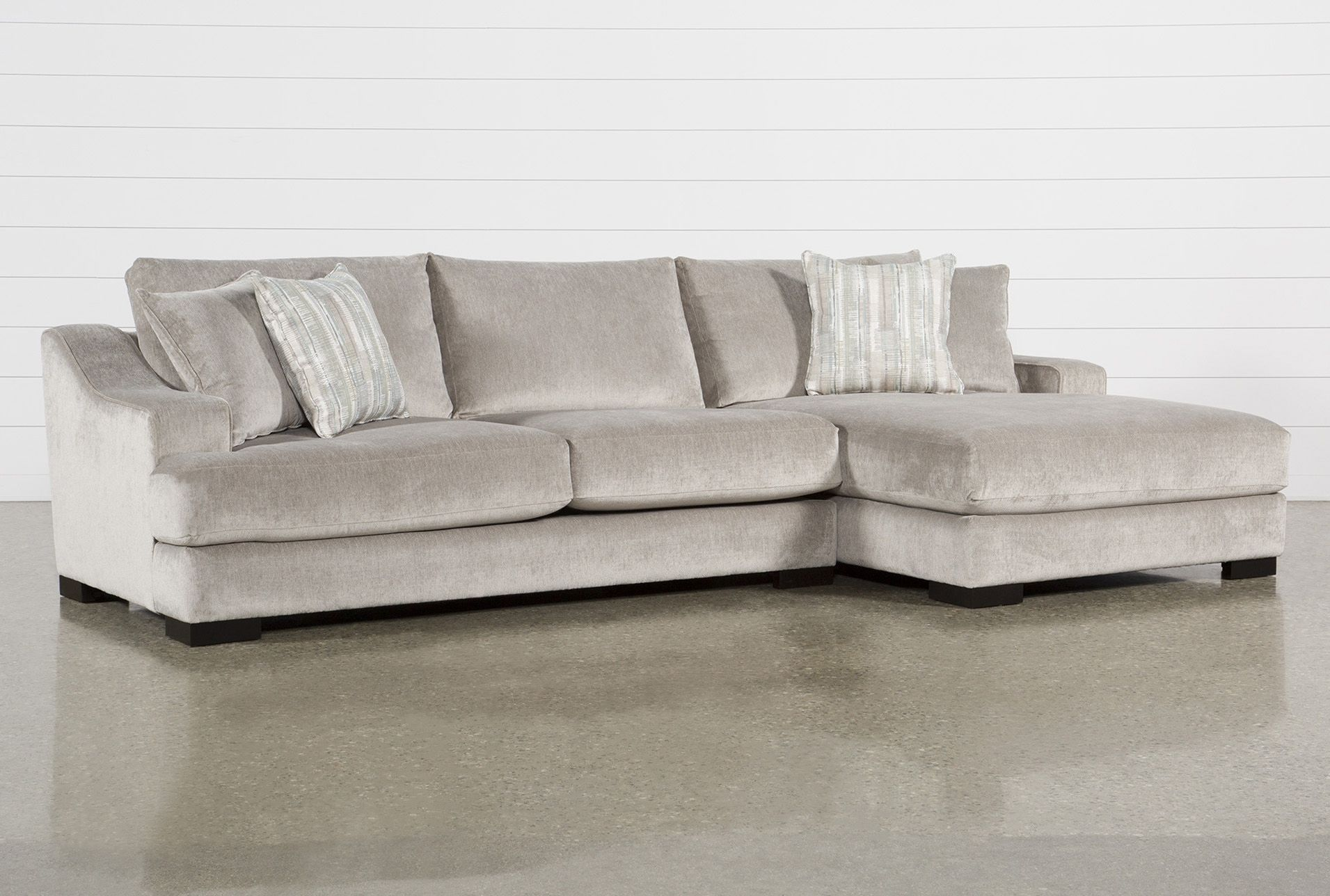 Lodge Fog 2 Piece 139 Sectional With Right Arm Facing Oversized Chaise 2 Piece Sectional Sofa Facing Sofas Sectional 2 piece sectional sofa with chaise