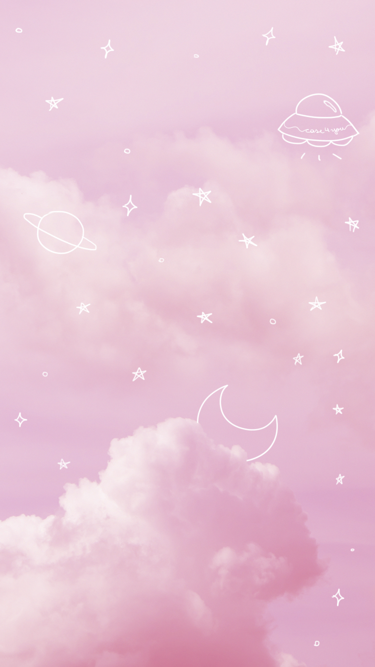 Wallpaper Pink Sky By Case4you Pink Sky Pinksky Space Aesthetic Pastel Stars M Pink Clouds Wallpaper Pink Wallpaper Backgrounds Cute Pastel Wallpaper