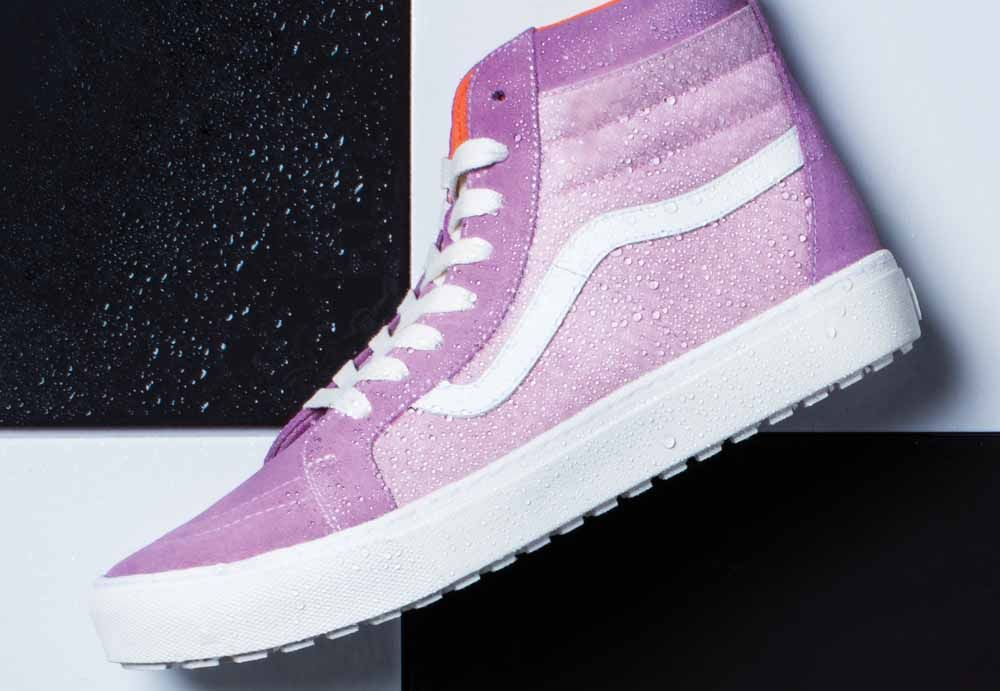 1c040ec5ecc Vault by VANS x London Undercover. Orchid Haze Checkerboard Sk8 Hi MTE Cup  LX Waterproof Sneakers.