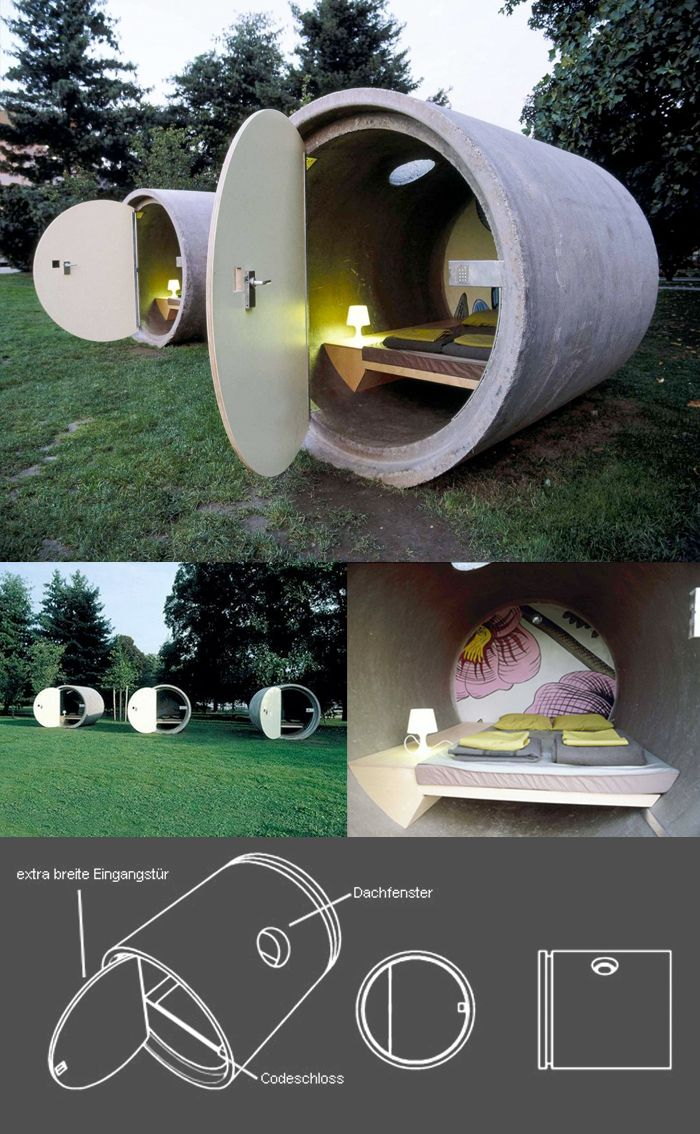 Drain Pipe Hotel, Austria/I Have A Big Back Yard Great Ideas