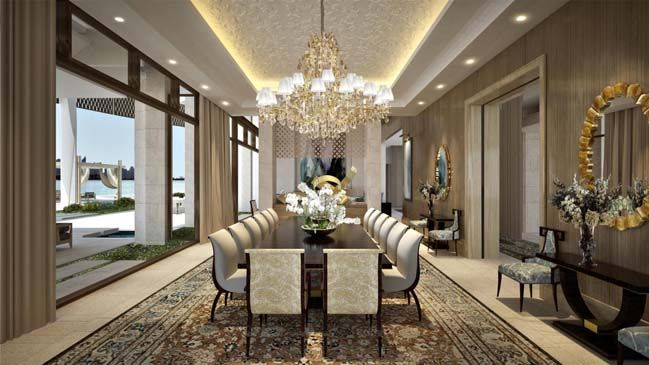 Ultra luxury villa in uae palm jumeirah dubai palm for Duta villa interior design