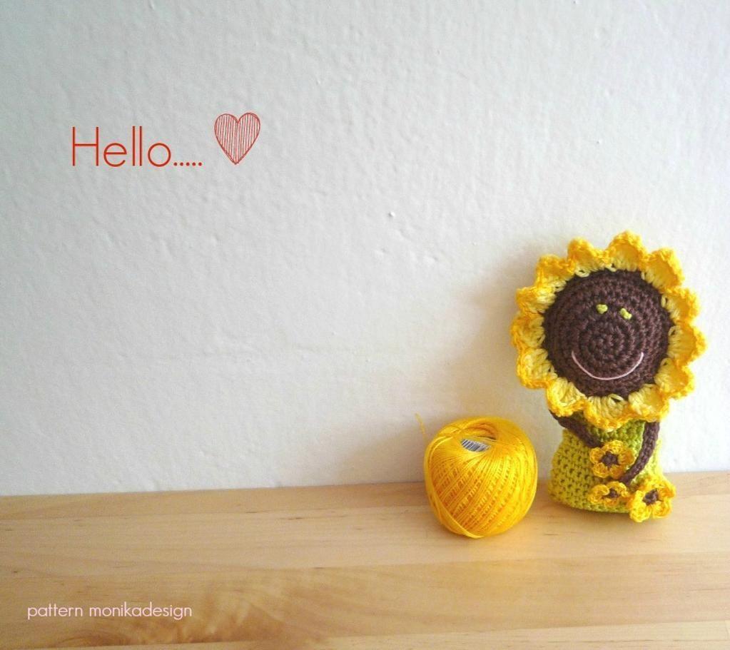 Crochet Sunflower Doll - via @Craftsy