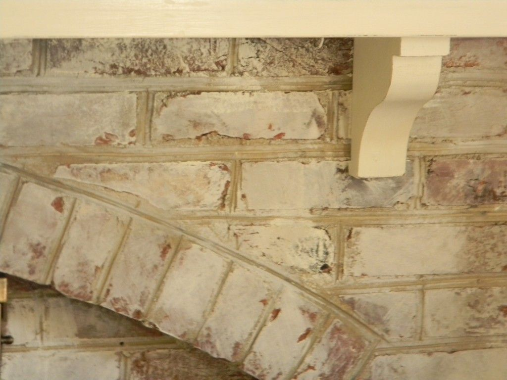 white washed fireplace ivory mantle home improvement