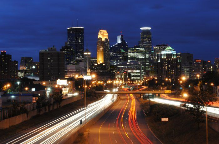 Friday Night View Of Downtown Minneapolis By Kelley Diekman On
