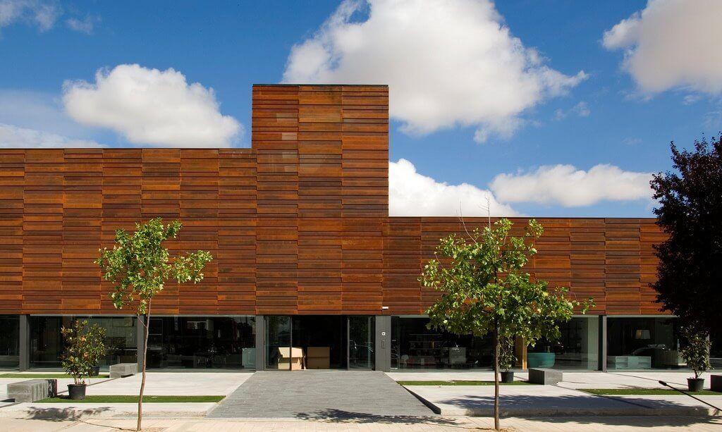 Edificio julius acero corten perforado cool element - Acero corten fachadas ...