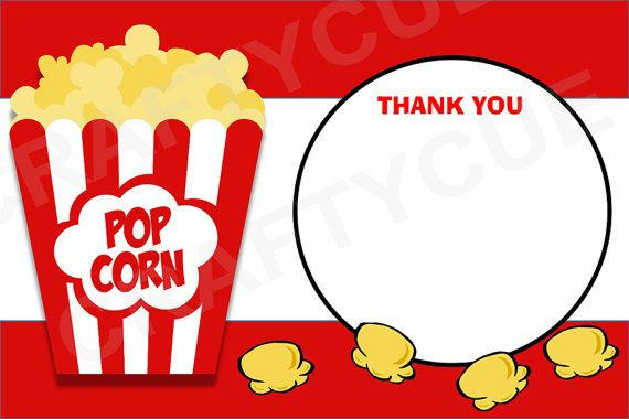 photograph about Popcorn Printable named Popcorn Thank On your own Playing cards - Printable Solutions inside of 2019