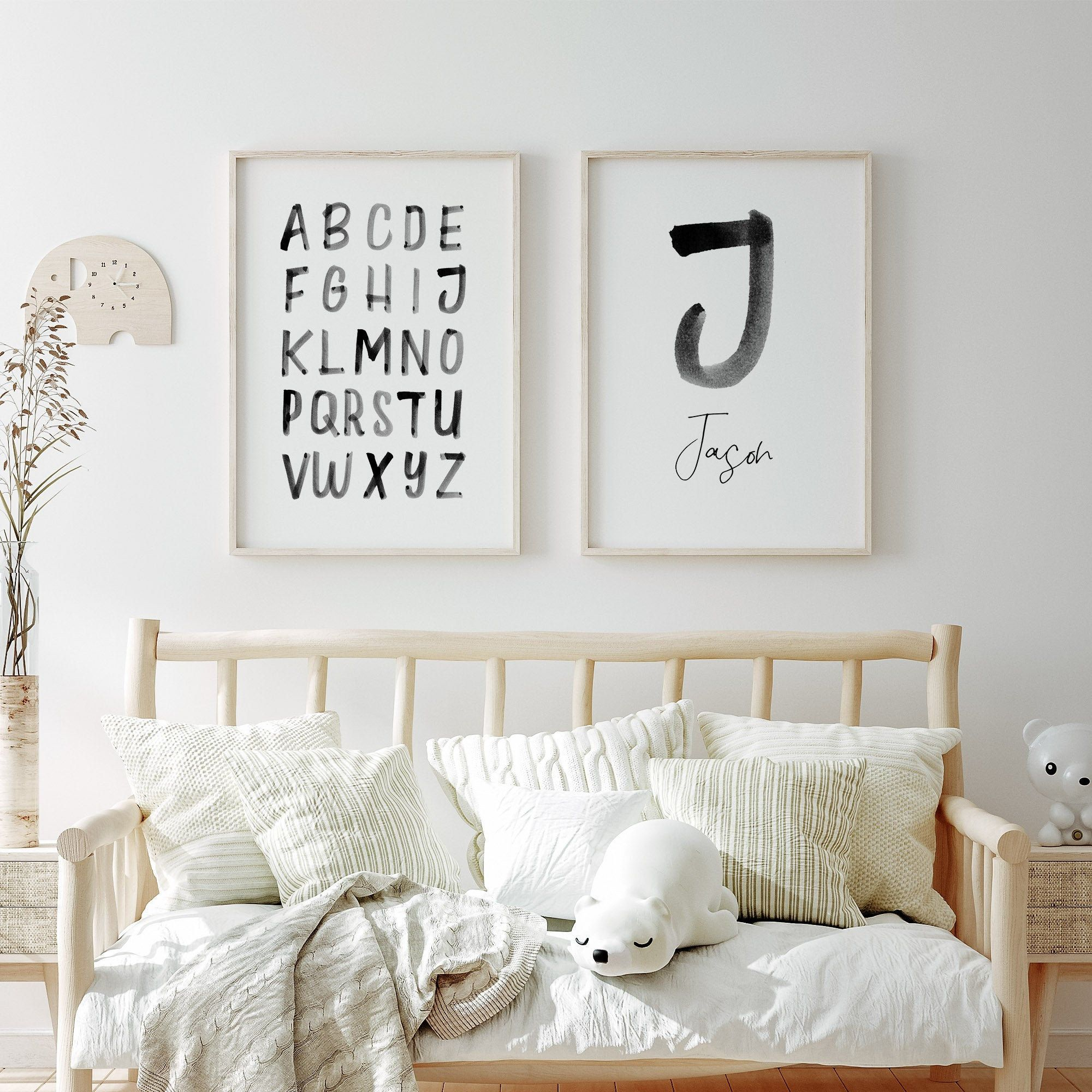 Nursery Personalized Name Print Personalized Gift Watercolor Etsy In 2020 Baby Nursery Wall Art Baby Room Wall Art Baby Room Paintings