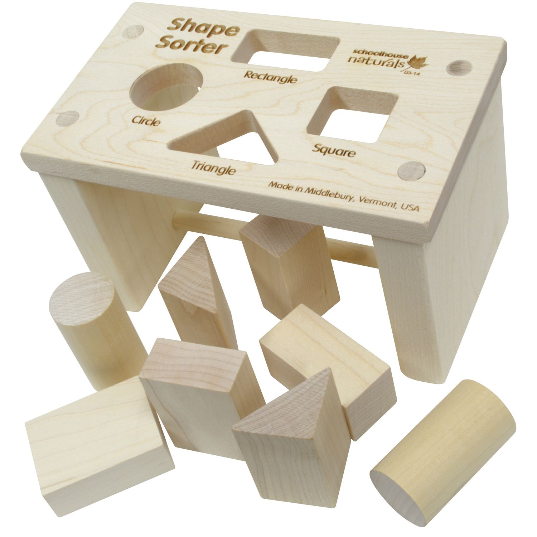 maple landmark shape sorter bench | genius series alicia