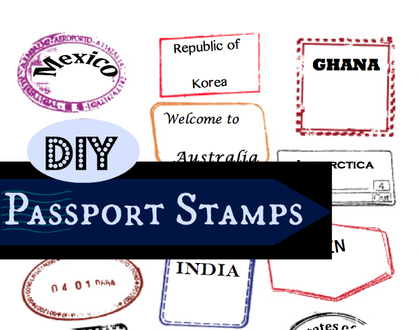 Editable Passport Stamps Template   Pinteres