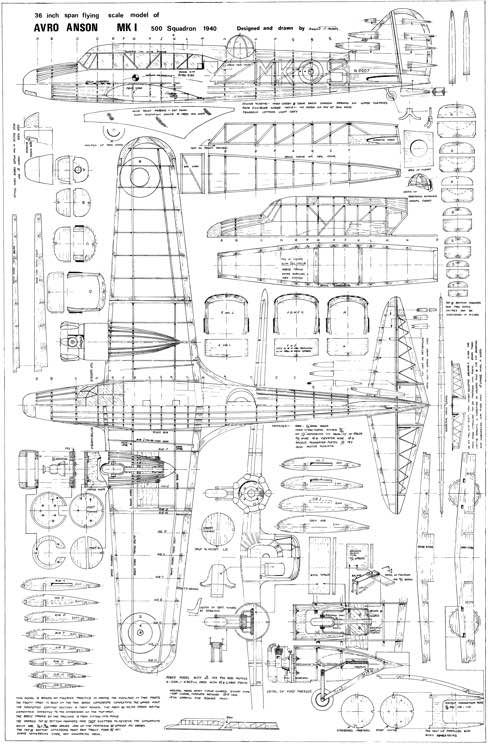 The Avro Anson is one of the model airplane plans available for download and printing.