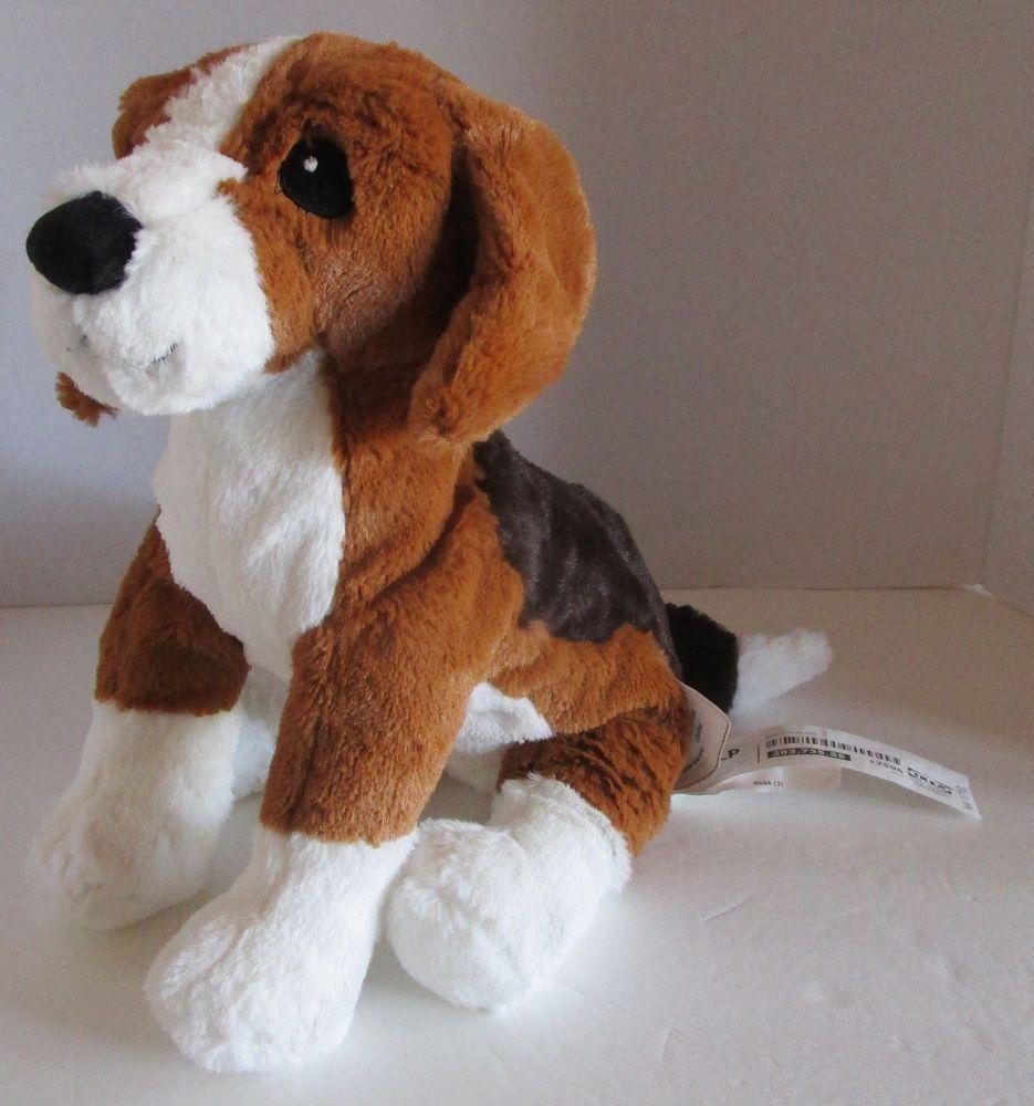 New Ikea Beagle Gosig Valp Dog 13 Soft Plush Stitched Eyes