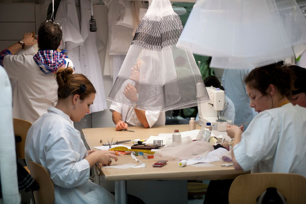 TRUNK TWENTY ONE: Christian Dior Haute Couture in the making.