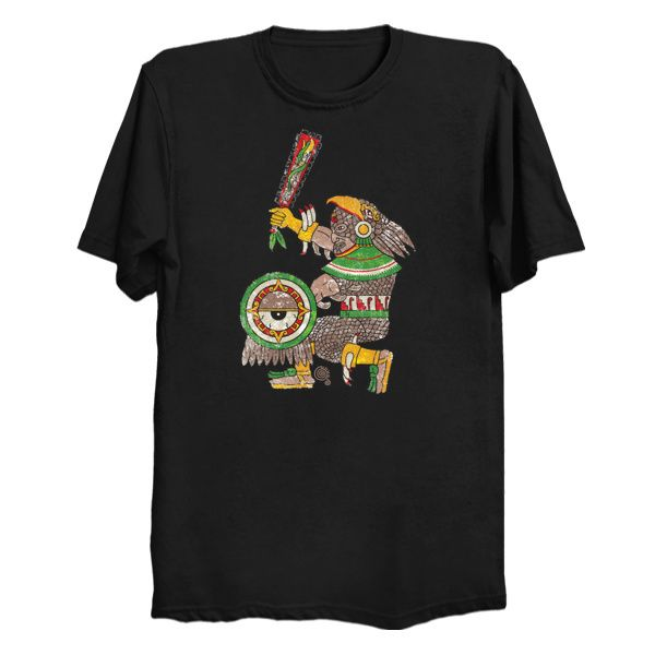 Yaotequihuac Mexica (Captain Aztec) Black T-Shirt #aztec