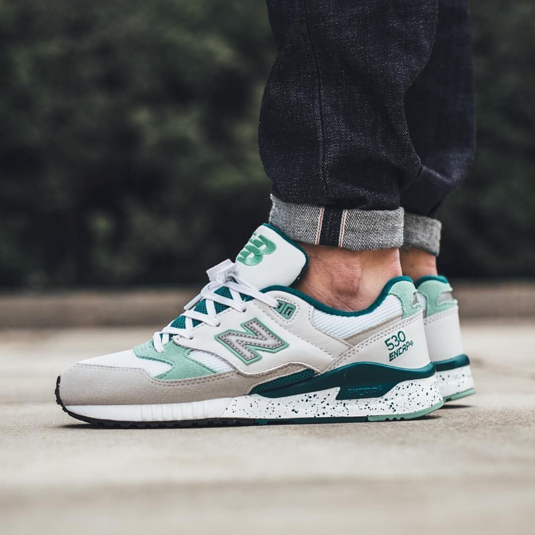 reputable site dc91e b7ee8 New Balance 530 - Grey/Green | Sneakers | Sneaker boutique ...