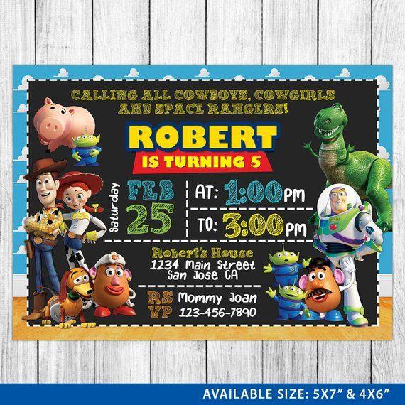 Toy Story Invitation Toy Story Invite Toy Story Birthday Toy