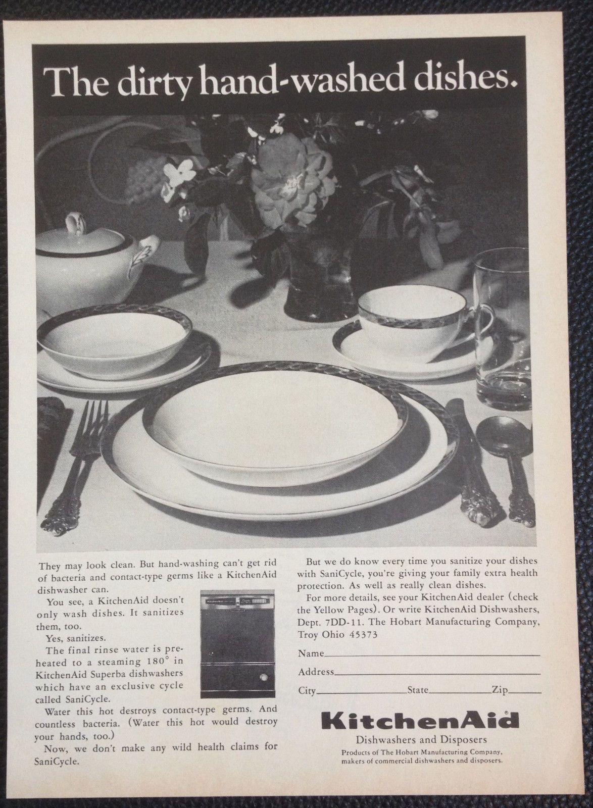 Vintage 1967 KitchenAid Dishwashers and Disposers Magazine Ad ...