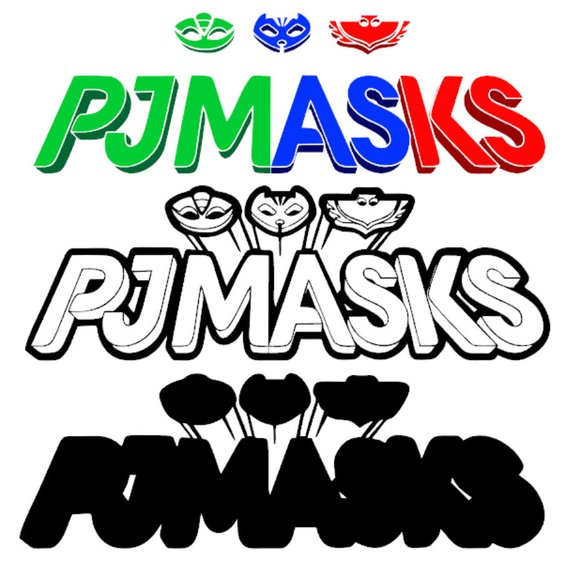 Pj Masks Logo Svg Cricut Silhouette Superhero Birthday Party