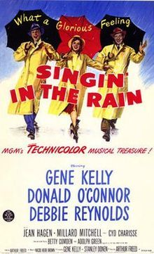 Singing In The Rain 1952 A Silent Film Production Company And Cast Make A Difficult Transition T Musical Movies Classic Movie Posters Singin In The Rain