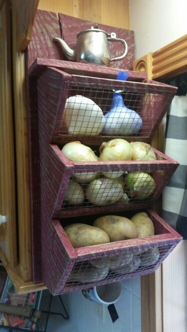 Rustic Barnwood fruit & vegetable bin