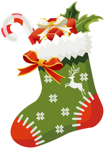 christmas green stocking png clipart image kar csony angyalok rh pinterest com christmas stocking clipart images stocking clip art black and white
