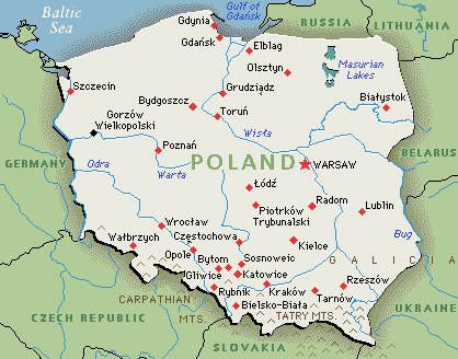 Poland Map Google Map Of Poland Poland Map Poland Travel Poland