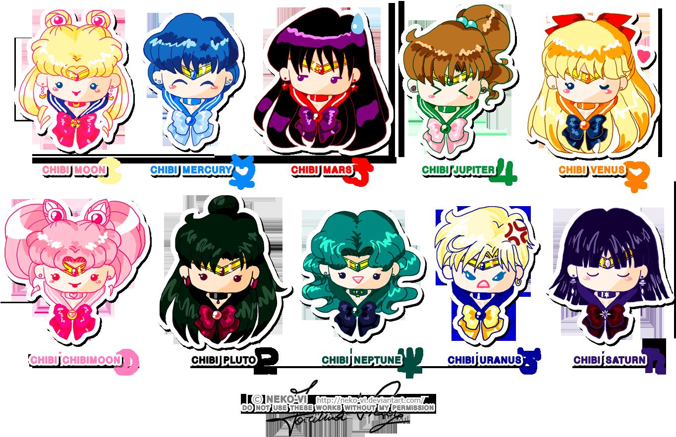 Chibi Sailor Senshi By Neko Vi On Deviantart Sailor Moon Character Sailor Moon Characters Names Sailor Moon