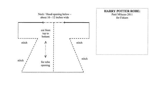Perfect Harry Potter Robe Sewing Pattern Sketch - Easy Scarf ...