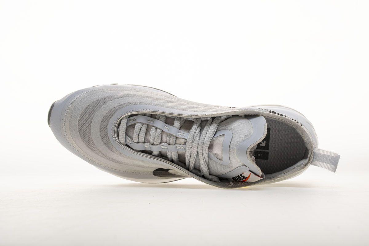 4139a7e9c116d OFF WHITE X Nike Air Max 97 OG Light Grey AJ4585-002 Sneaker 5 ...