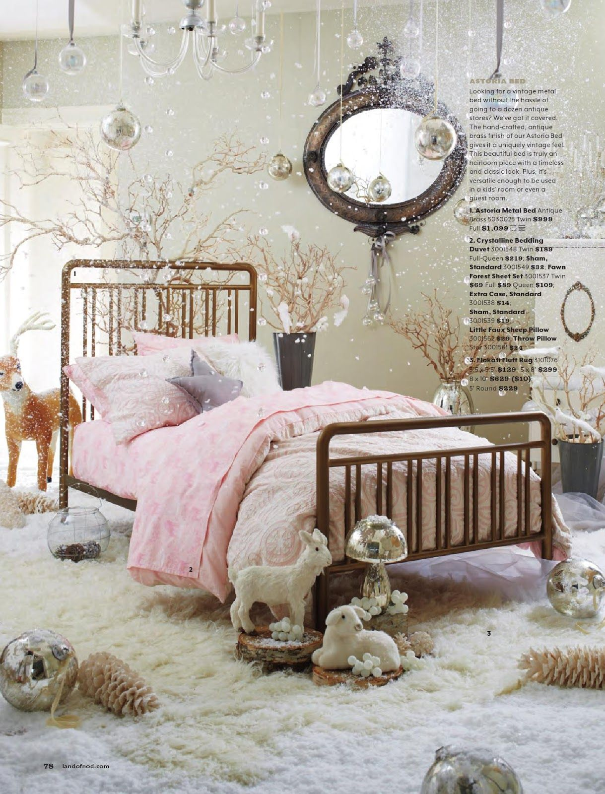 Love this winter girly room by Land of Nod Girl room