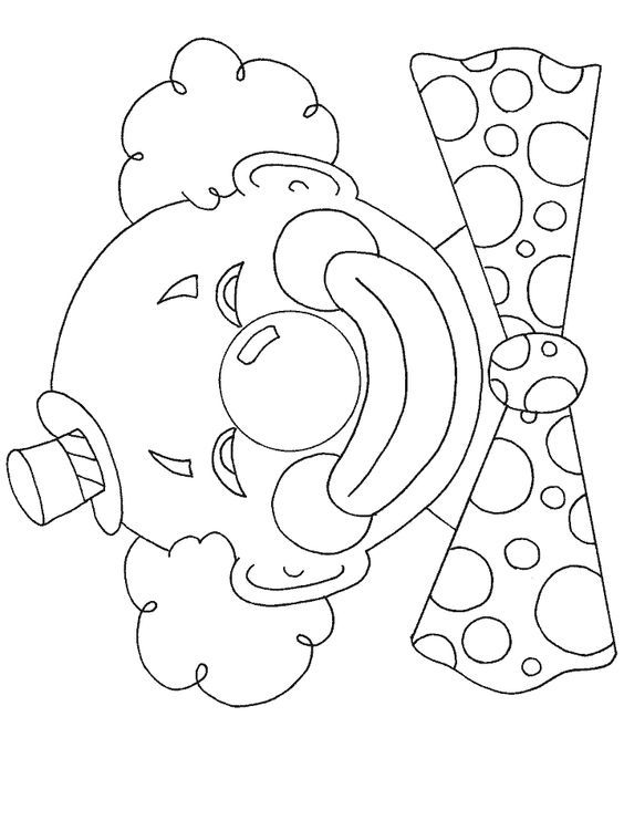 Pin By Galina On Schablonen Clown Crafts Coloring Pages Coloring Pages To Print