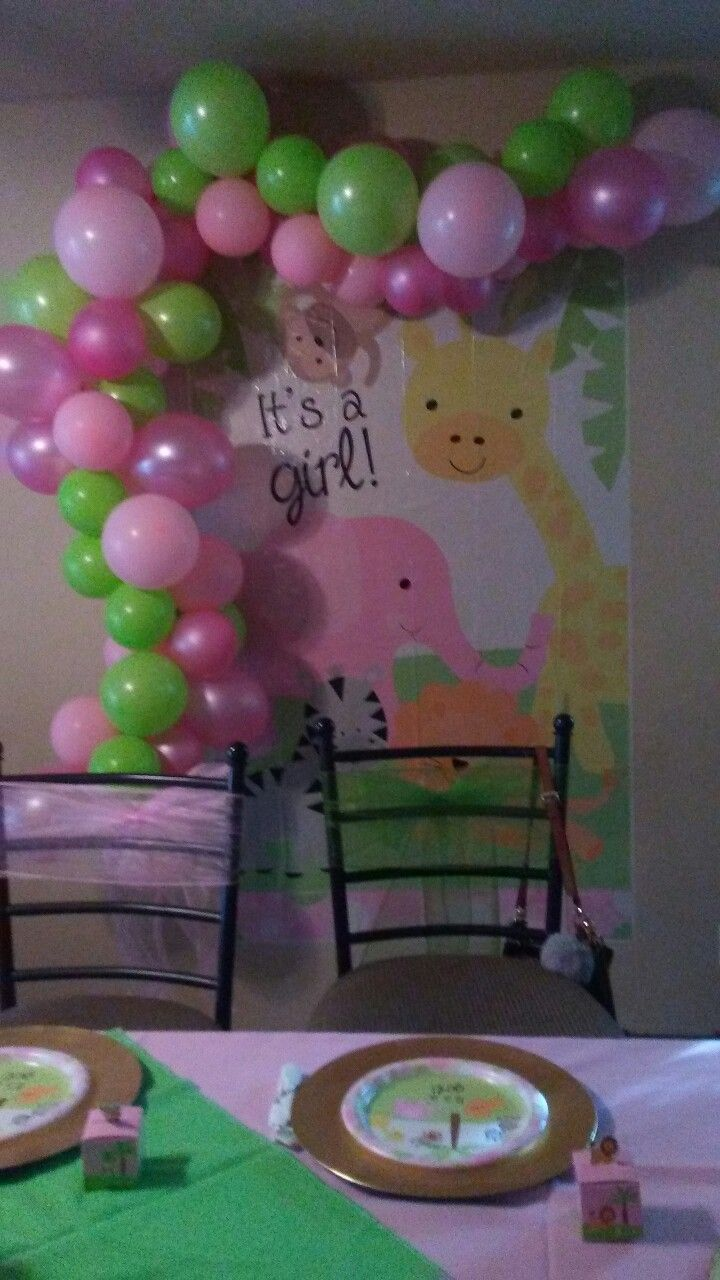 Baby Shower Dollar Tree Backdrop My Baby Shower Pinterest