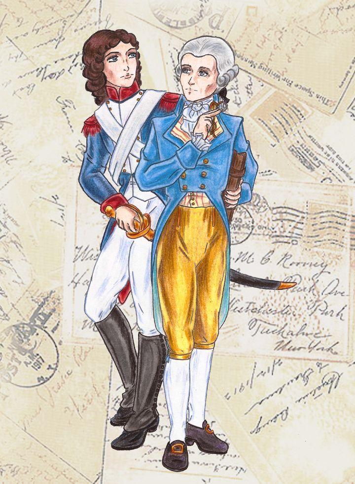 Resultado de imagen para Fotos de Maximilien Robespierre y Louis Antoine de Saint-Just