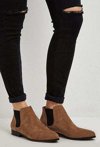 Faux Suede Chelsea Boots, size 10 | Forever 21 - 2000173897 ...