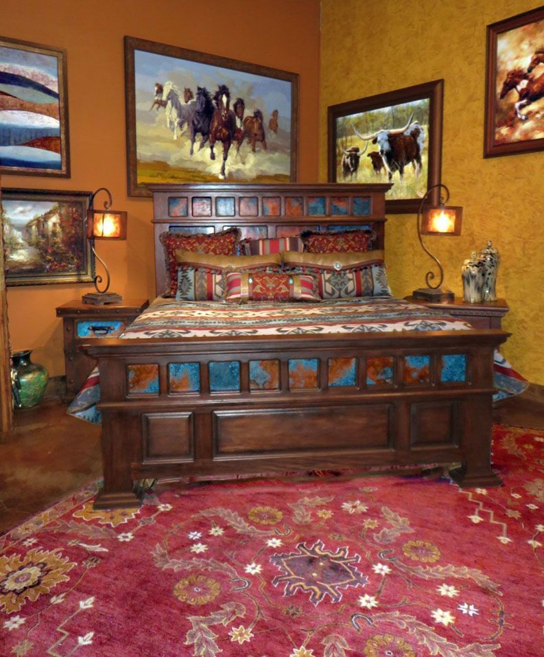 Rustic Bedroom Set Fort Worth Furniture Store Adobeinteriors Com