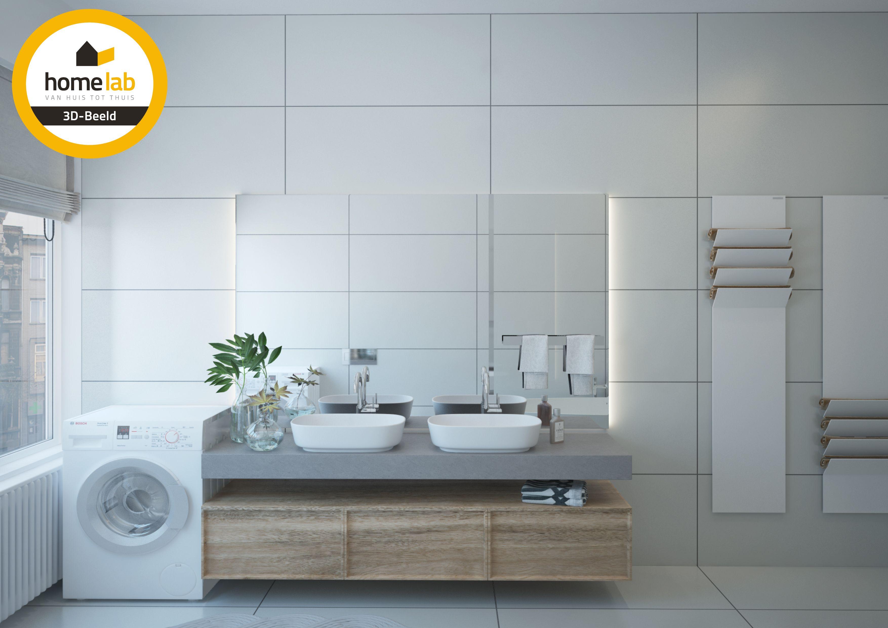Homelab badkamer renovatie appartement te Sint-Truiden
