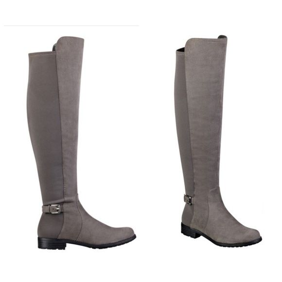 160a60cae86 Liz claiborne gray riding boots over the knee suede boots like new used  twice true to