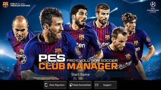 pes club manager 2019 apk data