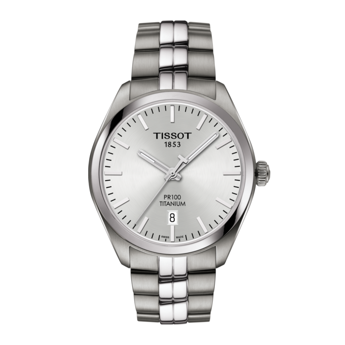 The Tissot Pr 100 Is A Classic Watch Destined To Be Worn Often And For Every Occasion It Features The Simple A Titanium Watches Watches For Men Bracelet Watch