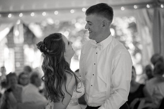 Black and White First Dance Photos | Woodlawn Manor, Maryland Wedding | Ashley Goverman Photography