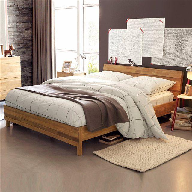 lit en ch ne massif ariles la redoute interieurs prix. Black Bedroom Furniture Sets. Home Design Ideas