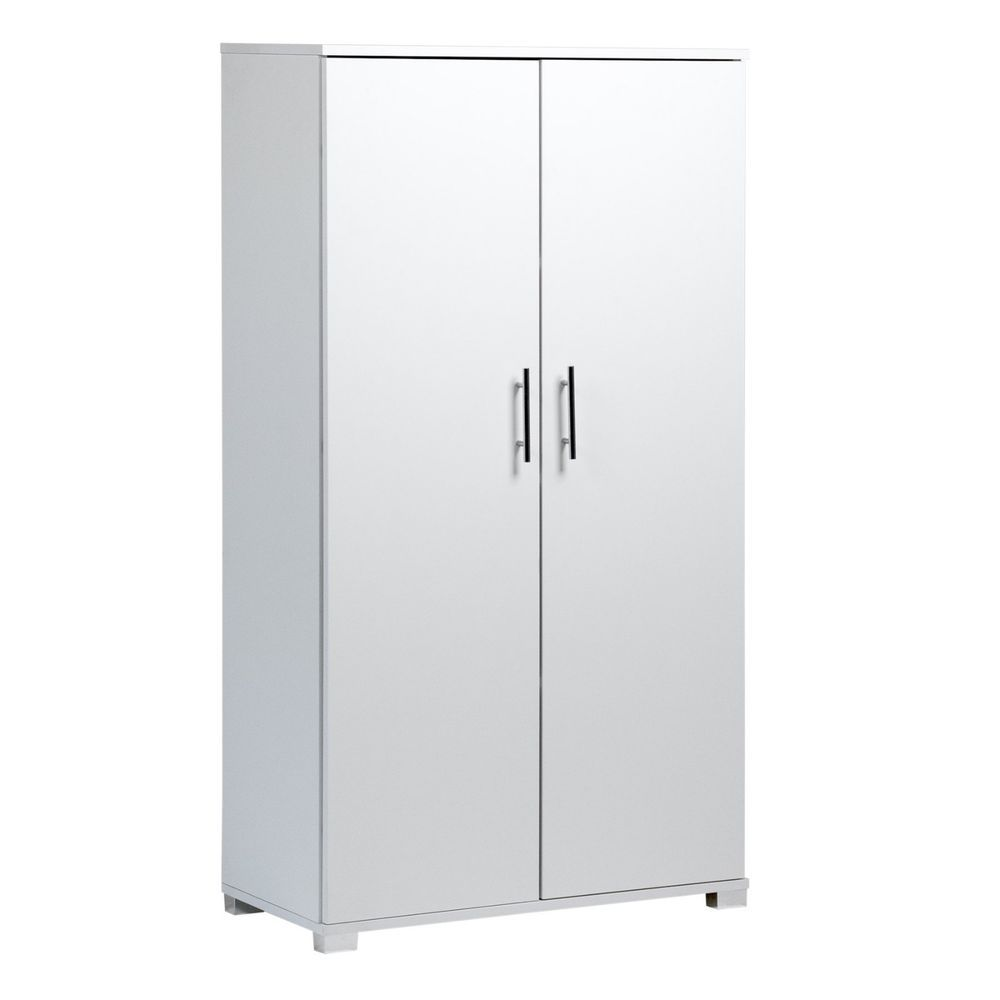 White Tall Pantry Office 2 Door Bookcase Cupboard Filing Cabinet Storage Unit 5060366063878 Ebay Office Storage Cupboards Filing Cabinet Storage Storage Closet Shelving