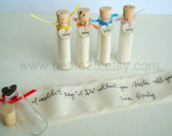 Bruiloft partij gave, geheim bericht fles met zilveren