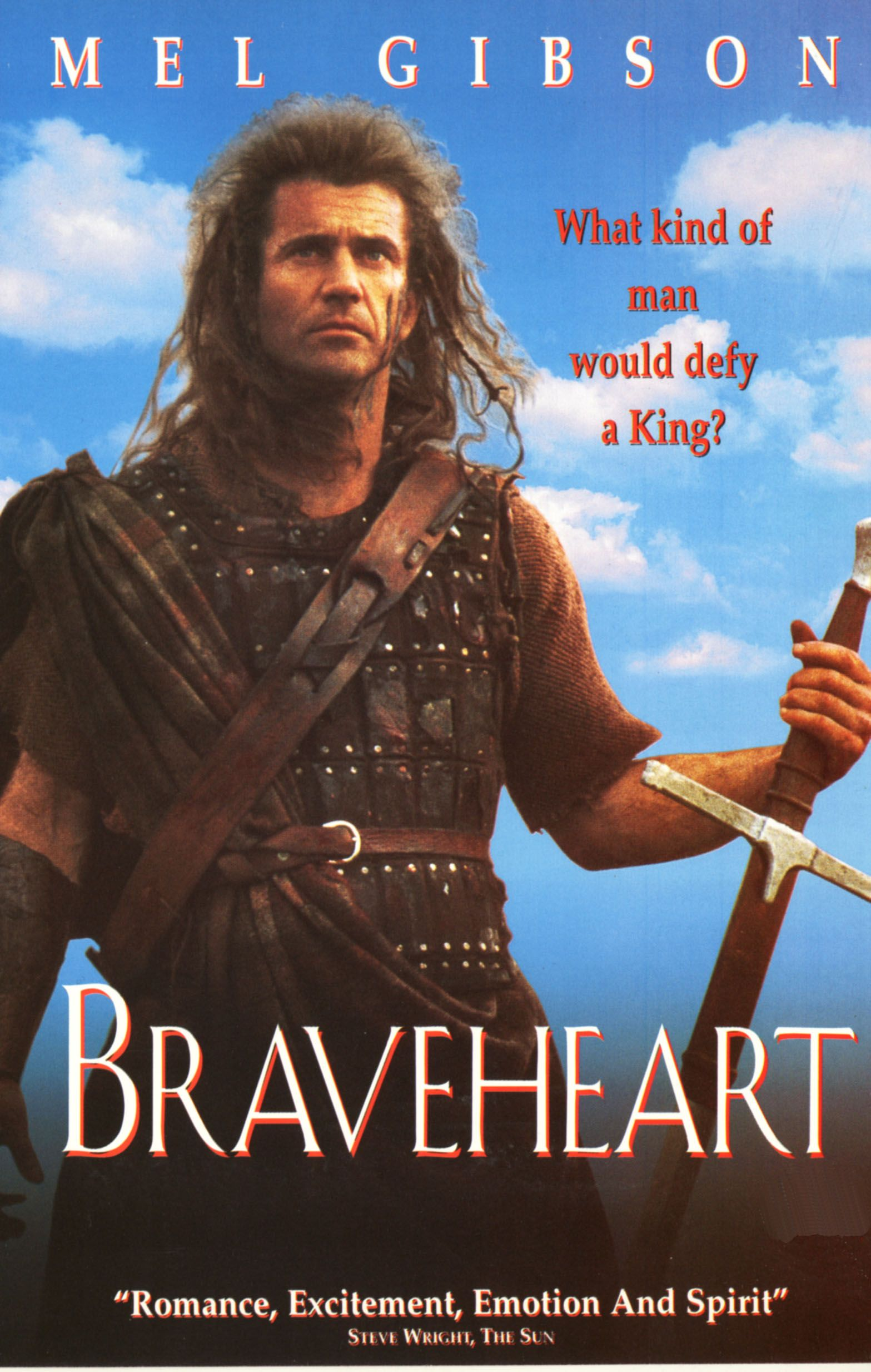 braveheart essay Braveheart essays | see the list of sample papers for free - bla bla writing braveheart, directed by mel gibson, was released in 1995 and since then has won a total of 5 academy awards.