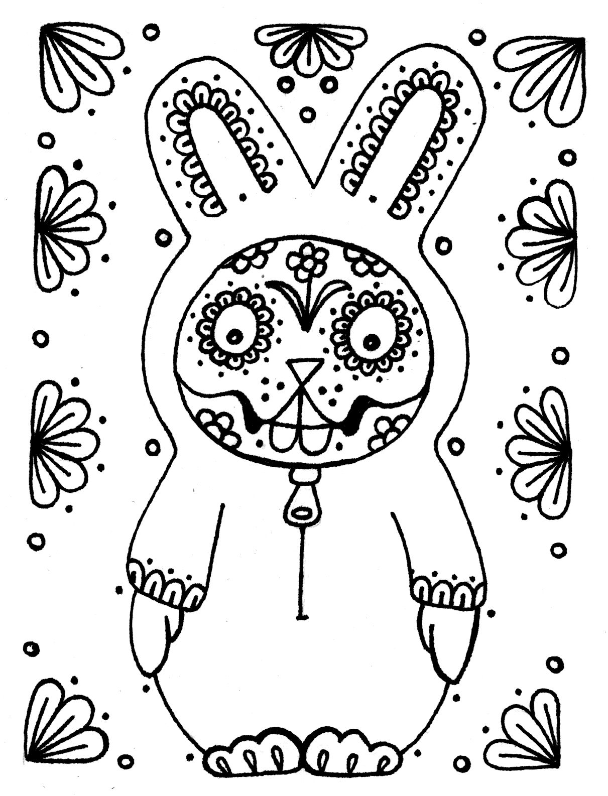Dia De Los Muertos Coloring Pages | Wenchkin\'s coloring pages - Dia ...