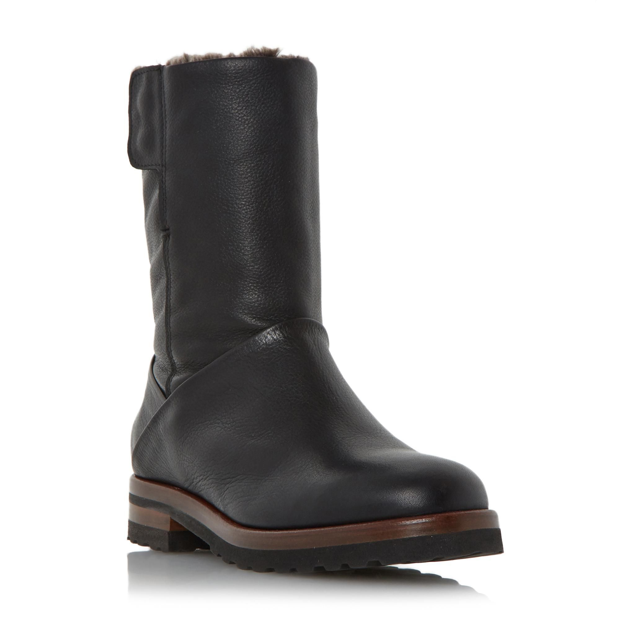 DUNE LADIES RAYNER - Warm Lined Calf Boot - black | Dune Shoes Online