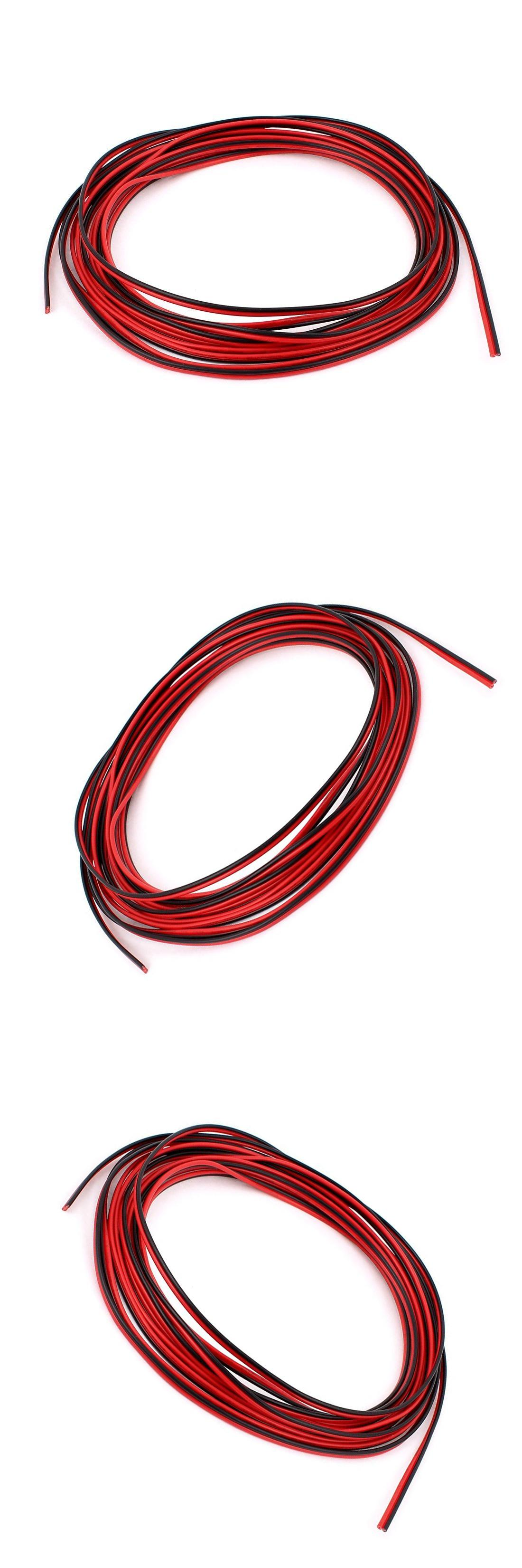 Visit to Buy] 5M 22AWG Red Black Dual Core Electric Cable Wire for ...