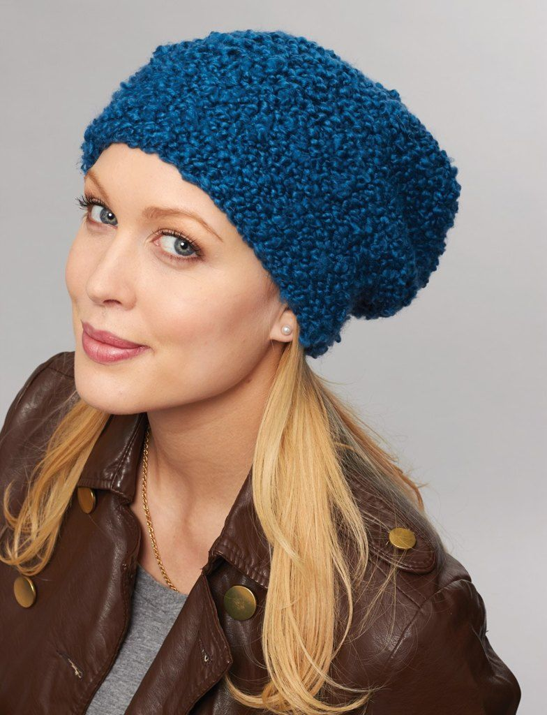 Easy Does it Garter Stitch Hat in Bernat Soft Boucle. Discover more ...