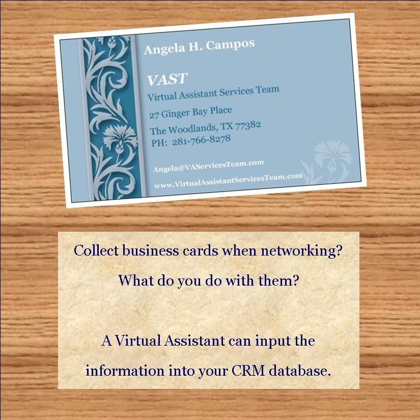 Collect business cards when networking? What do you do with them? A ...